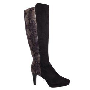 Impo Stretch Tawny Snake/Faux Suede Boot NWOB- 6.5